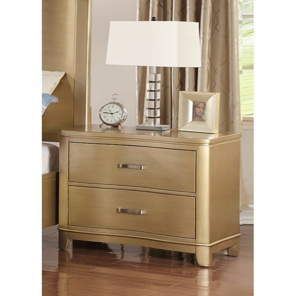 Kleio 2 Drawer Nightstand by Mercer41