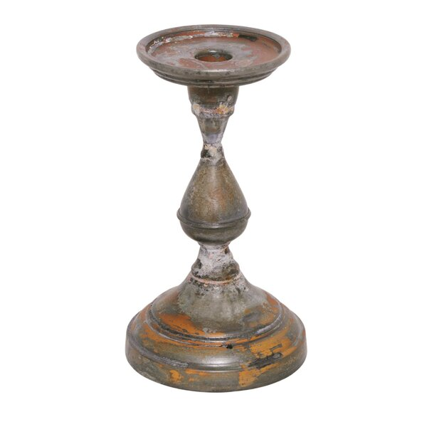 Galvanized Iron Candlestick by BIDKhome