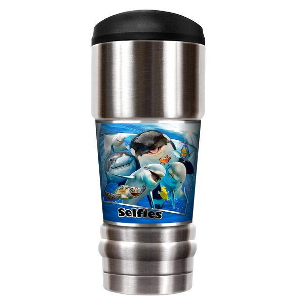 Ocean Selfies 18 oz. Stainless Steel Travel Tumbler by Great American Products