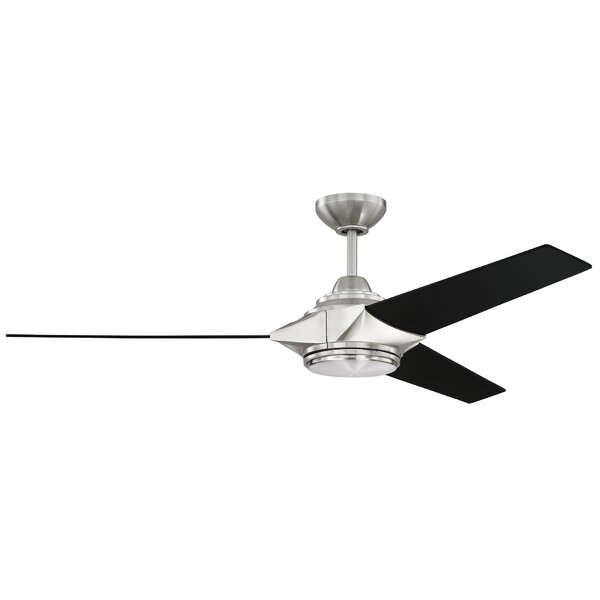 54 Bhalekar 3 Blade LED Ceiling Fan with Remote by Orren Ellis
