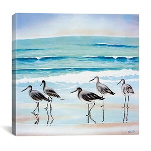 'Wading' Graphic Art Print by Beachcrest Home