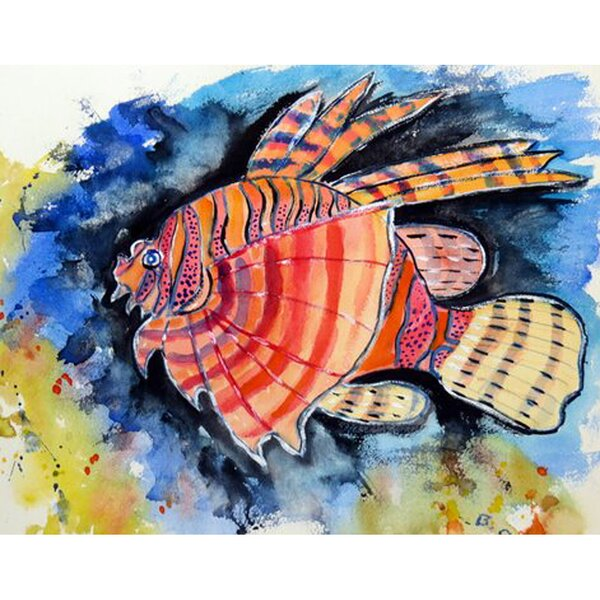 Lion Fish Placemat (Set of 4) by Betsy Drake Interiors