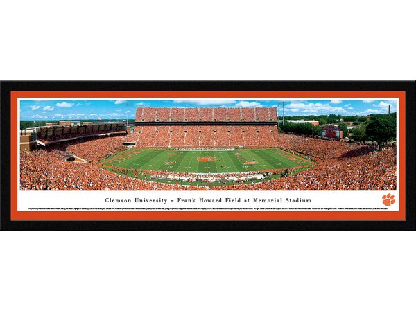 NCAA Clemson University - 50 Yard Line by James Blakeway Framed Photographic Print by Blakeway Worldwide Panoramas, Inc