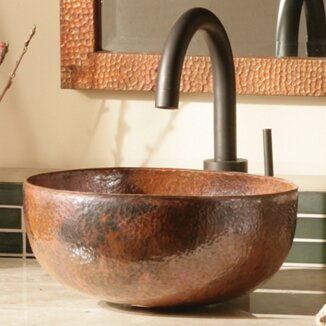 Maestro Metal Circular Vessel Bathroom Sink by Native Trails, Inc.
