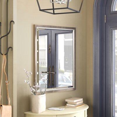 Vanity mirrors you 39 ll love wayfair for Metal framed bathroom mirrors