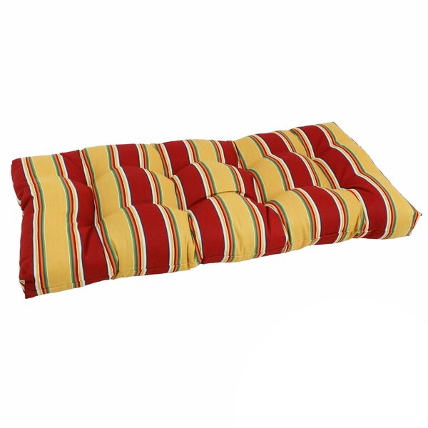 Indoor/Outdoor Loveseat Bench Cushion by Blazing Needles