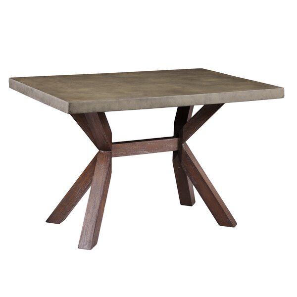 Astle Indoor/Outdoor Concrete Dining Table by Loon Peak