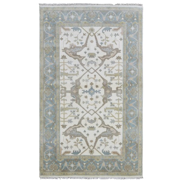 Mitchel Hand Woven Wool Blue/Beige Area Rug by Darby Home Co
