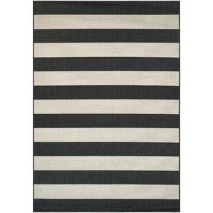 Find for Gallinas Onyx Flatweave Onyx/Ivory Indoor/Outdoor Area Rug ByBeachcrest Home
