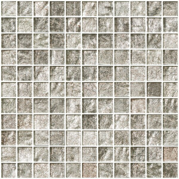 1 x 1 Glass Mosaic Tile in Crushed Crystal by Susan Jablon