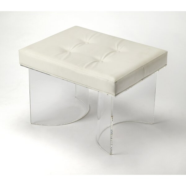 Damore Ellipse Acrylic Vanity Stool by Orren Ellis