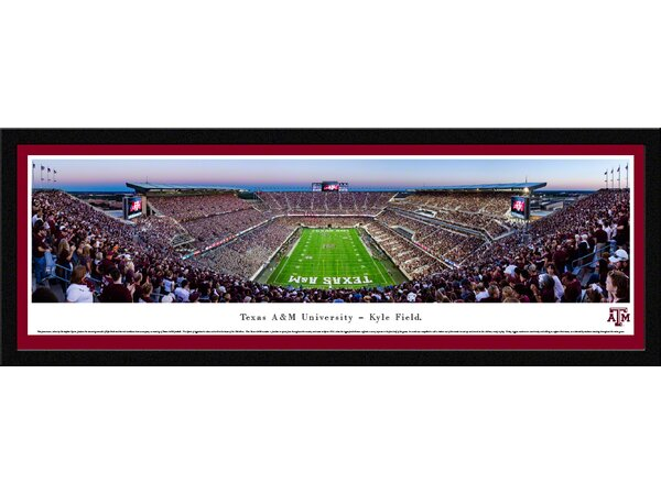 NCAA Texas A&M University - End Zone by Christopher Gjevre Framed Photographic Print by Blakeway Worldwide Panoramas, Inc