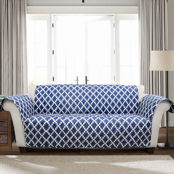 Wellow Ikat T-Cushion Sofa Slipcover by Winston Porter