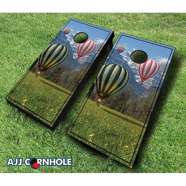 Hot Air Balloon Cornhole Set by AJJ Cornhole