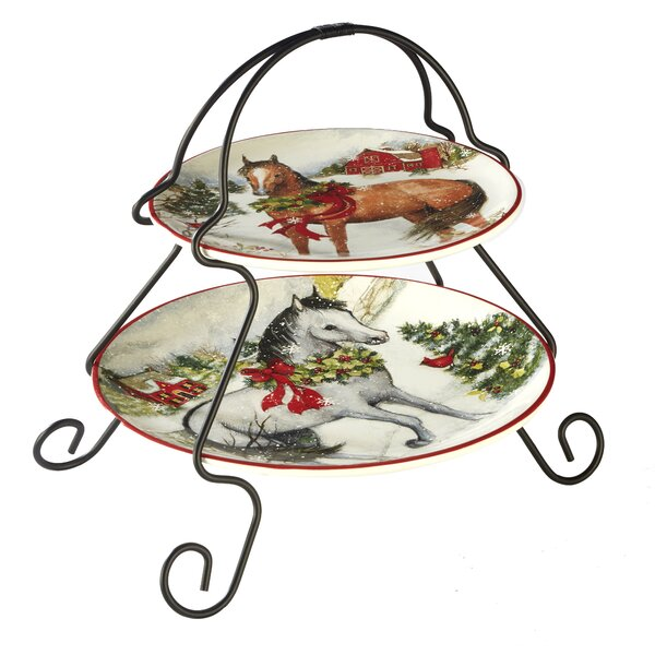 Nina 2-Tier 2 Piece Tiered Stand Set by The Holiday Aisle