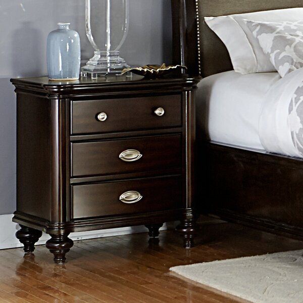 Nathaniel 3 Drawer Nightstand by Darby Home Co