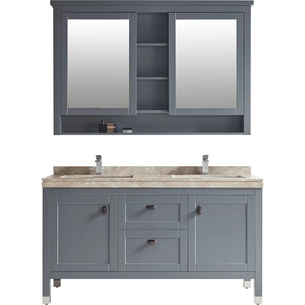 Keisler 60 Double Bathroom Vanity Set with Mirror