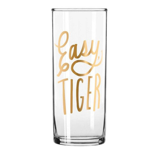 12 oz. Glass Highball Glass by Easy, Tiger