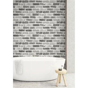 Rosalinda Washed Faux Brick 18 L X 20 5 W And Stick Wallpaper Roll