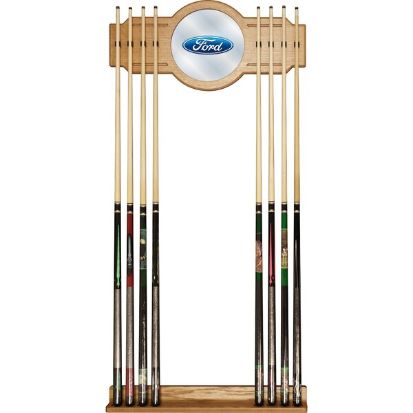Ford Oval Cue Rack with Mirror by Trademark Games