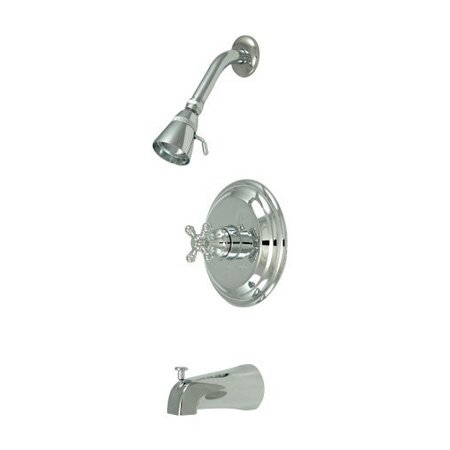 Metropolitan Diverter Tub And Shower Faucet With Rough-in Valve By Elements Of Design