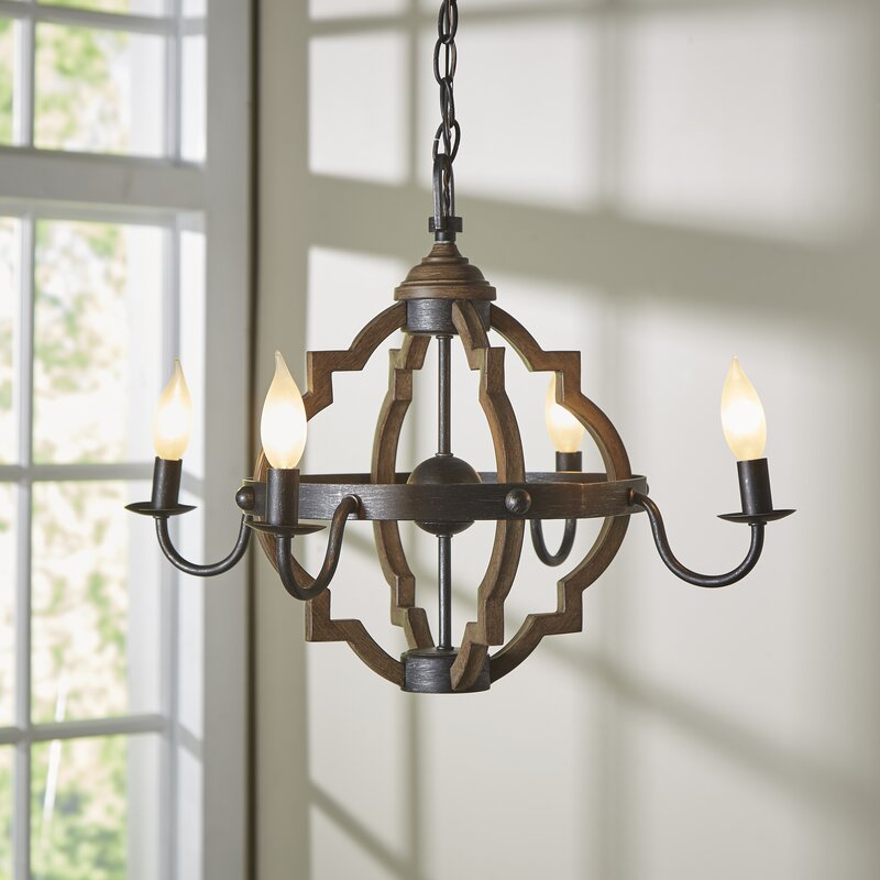 Donna 4 light candle style chandelier reviews joss main donna 4 light candle style chandelier audiocablefo