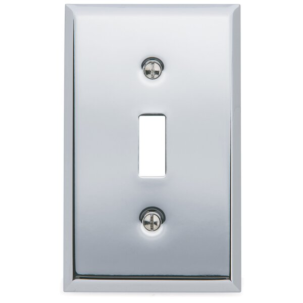 Classic Square Bevel Design Single Toggle Switch Plate by Baldwin