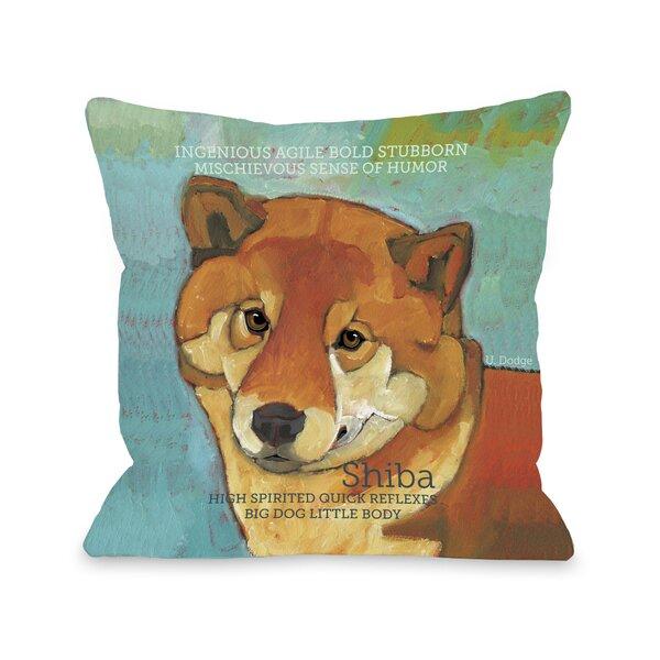Doggy Décor Shiba Throw Pillow by One Bella Casa