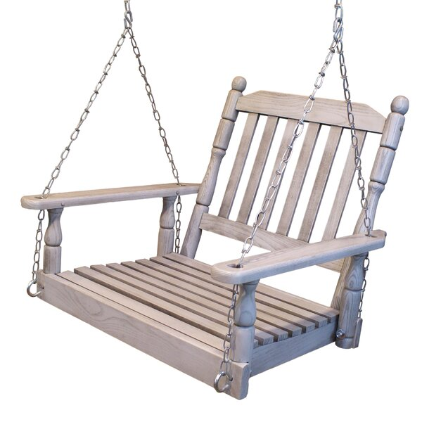 Woodson Single Person Slat Back Porch Swing by Rosalind Wheeler Rosalind Wheeler
