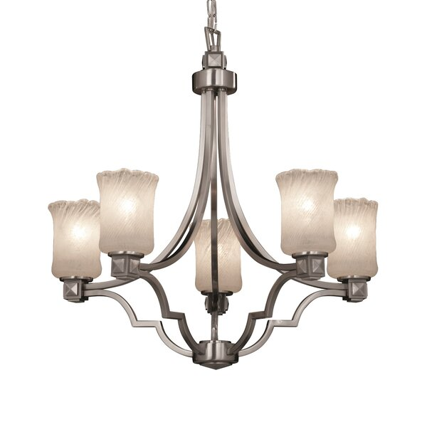 Argyle 5 - Light Shaded Empire Chandelier by Justice Design Group Justice Design Group