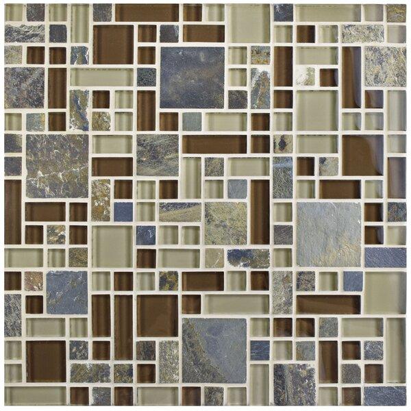 Sierra Random Sized Glass/Stone Mosaic Tile in Versailles Brixton by EliteTile