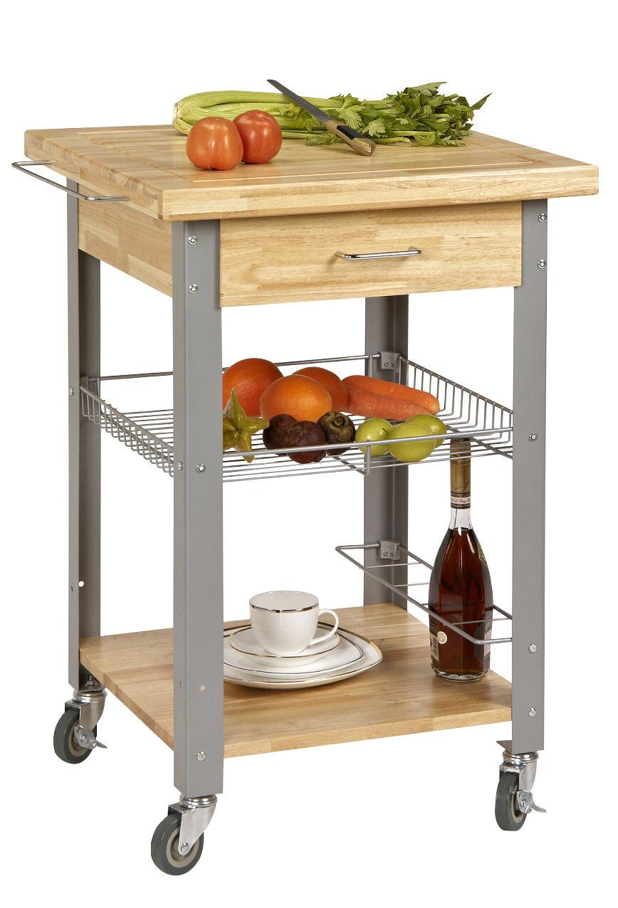 Corner housewares rolling storage and organization kitchen cart reviews wayfair