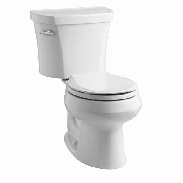 Wellworth Two-Piece Round-Front 1.28 GPF Toilet with Class Five Flush Technology, Left-Hand Trip Lever and Insuliner Tank Liner by Kohler