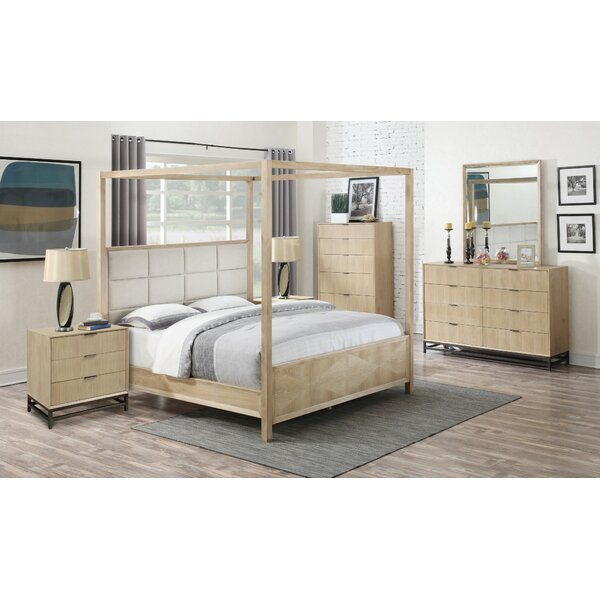 Holmquist Upholstered Canopy Bed by Union Rustic