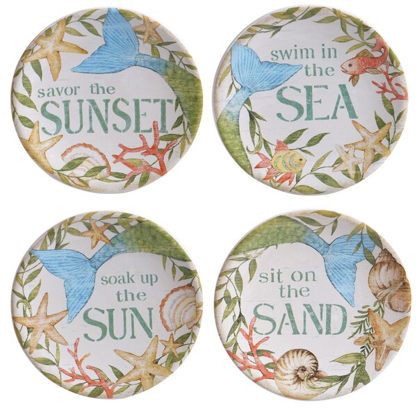 4 Piece Sea Beauty 6 Bread and Butter Plate Set by Certified International