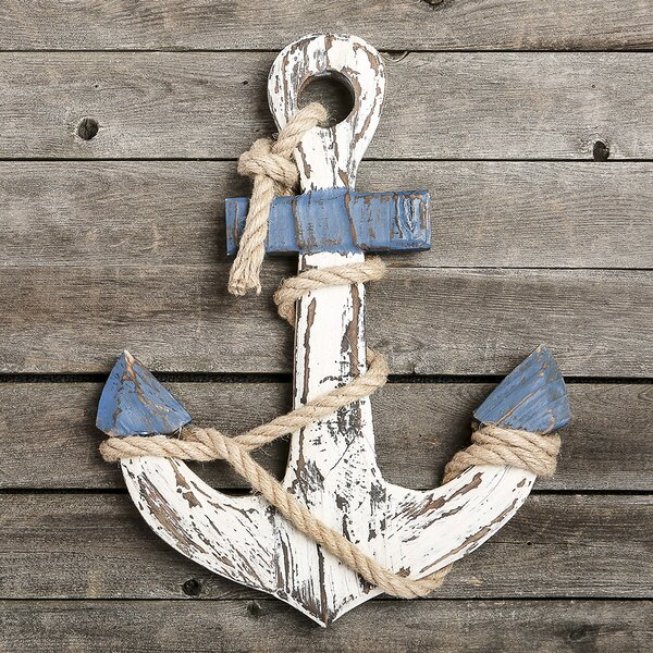 Distressed Look Anchor Wall Décor by Breakwater Bay