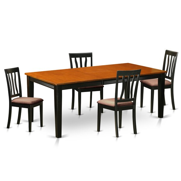 Loraine 5 Piece Extendable Solid Wood Dining Set by Red Barrel Studio