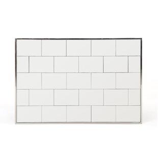 Orren Ellis Kristyn Brick Accent Wall Mirror