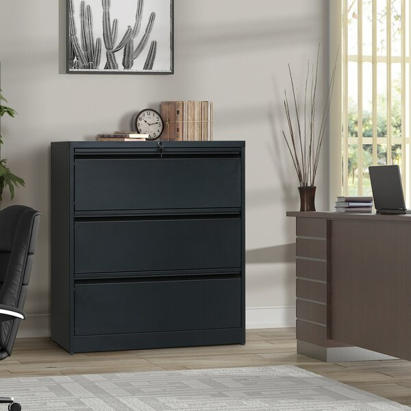 Alyha 3 Drawer Vertical Filing Cabinet