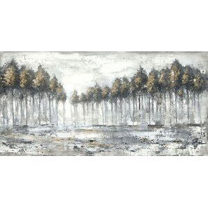 'Tree Landscape' by Anastasia C. Painting Print on Wrapped Canvas by Hobbitholeco.