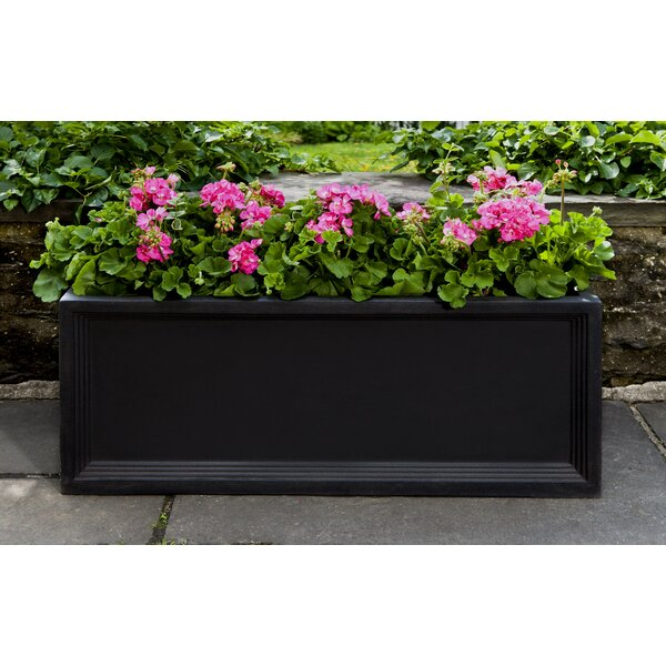 Janeth Large Fiberglass Clay Composite Window Box Planter by Darby Home Co