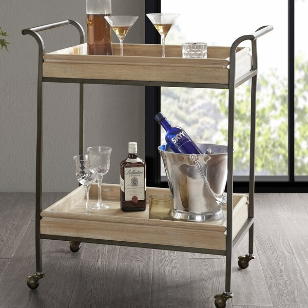 Deleon Bar Cart by Bungalow Rose