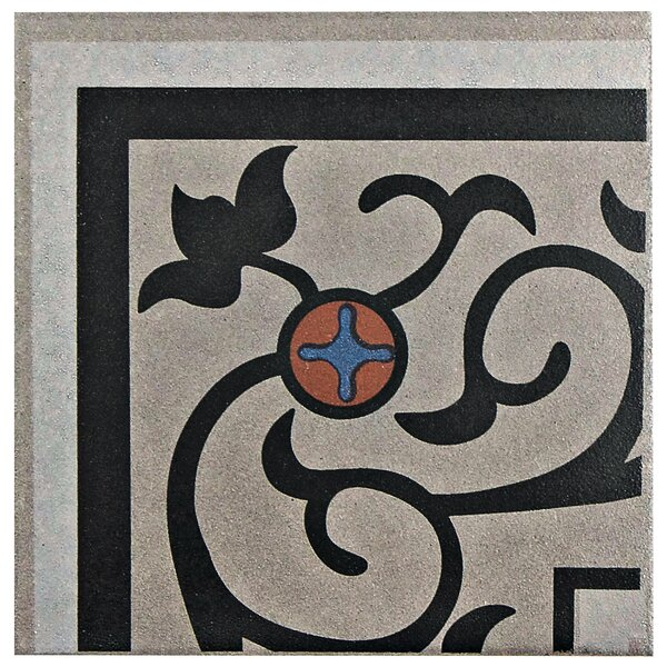 Cementa 7 x 7 Ceramic Glazed Decorative Murals Tile in And Esquina by EliteTile