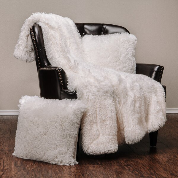 Cora Chick Fuzzy Faux Fur Throw by Mercer41