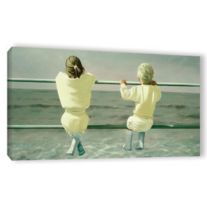 'On The Railing' Painting Print on Wrapped Canvas by Highland Dunes