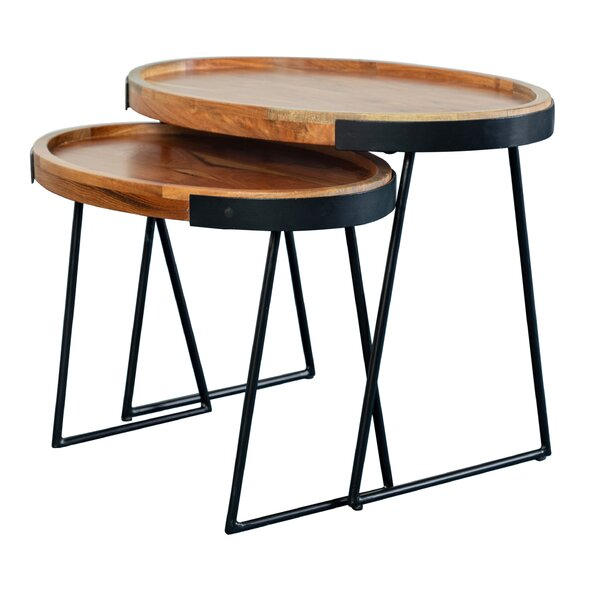 Outdoor Furniture Steeves 2 Piece Nesting Tables