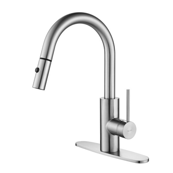 Oletto Standard  Pull Down Bar Faucet with and Soap Dispenser by Kraus