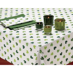 Shamrock Printed Tablecloth by The Holiday Aisle