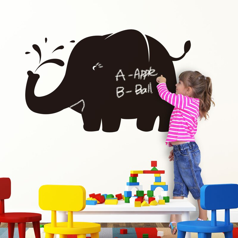 Blackboard Huge Elephant Wall Decal
