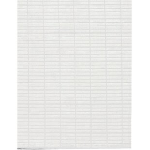 Inexpensive Indian Hand-Knotted Wool White Area Rug By Bokara Rug Co., Inc.